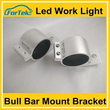 Slilver led Bull Bar Mount Bracket Clamps Bumper Fit Car Truck Off Road SUV Spot Fog Driving Lamp
