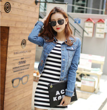 wholesale new fashion clothes for women long sleeve woman denim jacket
