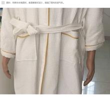 2015 new design fashionable 100% cotton hotel waffle bathrobe