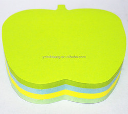 die out office &school supplies high quality apple shape adhesive notes DH-122