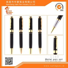 Luxury metal ballpoint pen customized gifts logo design souvenir promotion