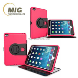 3 in 1 style 360 Rotating Stand Case for ipad mini 2 3 4 waterproof case