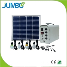 Solar lighting system with LED bulbs+Solar panel+battery+USB phone charger