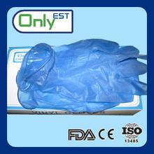 Dark blue disposable AQL1.5 examination vinyl glove powder free