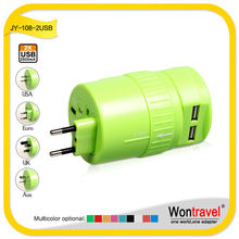 US Plug Dual-USB Power Adapter Travel Charger for iPhone,/iPad / iPod