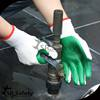 SRSAFETY 7 gauge liner laminated with orange rubber on palm gloves/Safety working gloves/latest rubber work gloves,thicken
