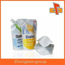 Liquid Filling Sealing Plastic Bag , Spout packaging pouch in professional printing