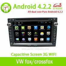 Pure android 4.2.2 doble din dvd del coche para volkswagen golf 4/zorro/crossfox con 3g gps wifi