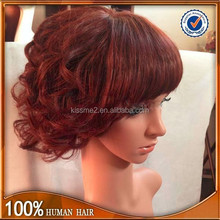 China manufacturer Best Selling Products virgin remy curl bobo wigs brazilian human hair full lace wig