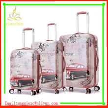 xc-3450 travel trolley bag 3 pcs factroy sale luggage case matte finish soft surface abs trolley luggage