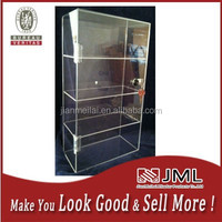 multilevel tempered glass new design Display Case with lock