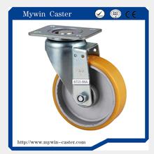 5 inch yellow TPU heavy duty caster wheel