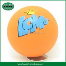 hi bounce rubber ball printed with custom logo