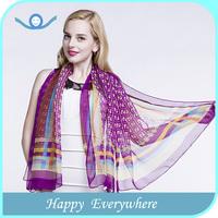 Acrylic Chiffon Square Silk Shawl For Evening Dress