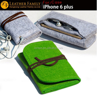 """2015 Original For apple iphone 6 plus pouch,Wool Felt protective sleeve bag for iPhone6 Plus 5.5"""" cases Cover black gray"""