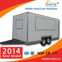 Used Food Carts For Sale/Fast Food Mobile Kitchen Trailer
