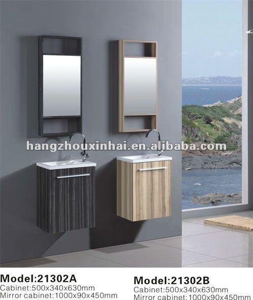 Piccolo montaggio a parete compensato melaminizzato mobili - Mobiletto del bagno ...