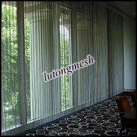 Stainless steel mesh drapery/stainless steel mesh fabric for wall partition screen