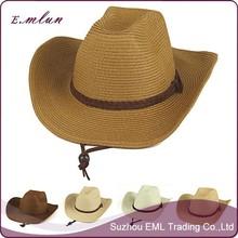 Summer foldable beach cowboy straw hat
