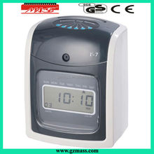 hot! big sale T-7 setting time recorder machine clock for factory recording