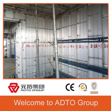 ADTO GROUP One Time Pouring Aluminium Concrete Wall Forming system,aluminium formwork folding wall systems,aluminium formwork