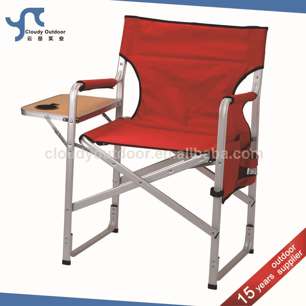 Camping aluminium directors chair with folding side table buy