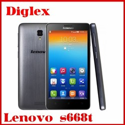 Original Lenovo S668T 1GB RAM 8GB ROM MTK6582 Quad Core 1.3ghz Android 4.2 smart phone 4.7inch 960*540pixels GPS Play Store
