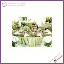 wholesale embroidered organza green brown organza sashes on chair manufacturer supplier