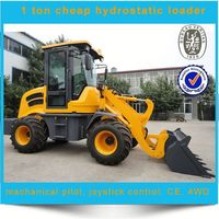 mini loader with hydrostatic system, cheap small hydrostatic wheel loader for sale