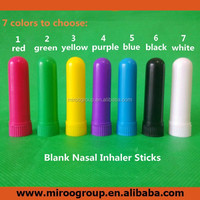 high quality aromatherapy inhalers , colored blank nasal inhaler sticks with cotton wicks for essential oil diffuser