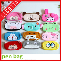 New Cute Cartoon Kawaii Pencil Case, Plush Large PEN BAG for Kids School Supplies Material Korean Stationery