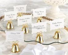 "Golden ""Kissing Bell"" Place Card Holders /Photo Holder"