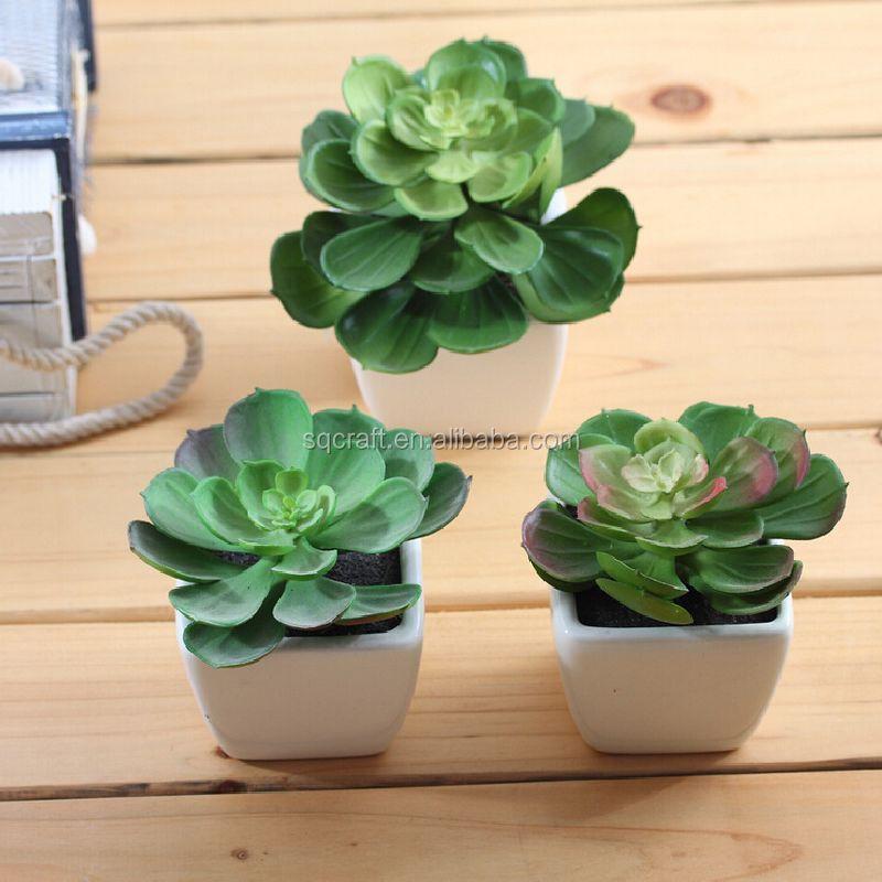 Artificial grass potted pot fake plant bush cactus 13cm for Artificial plant decoration home