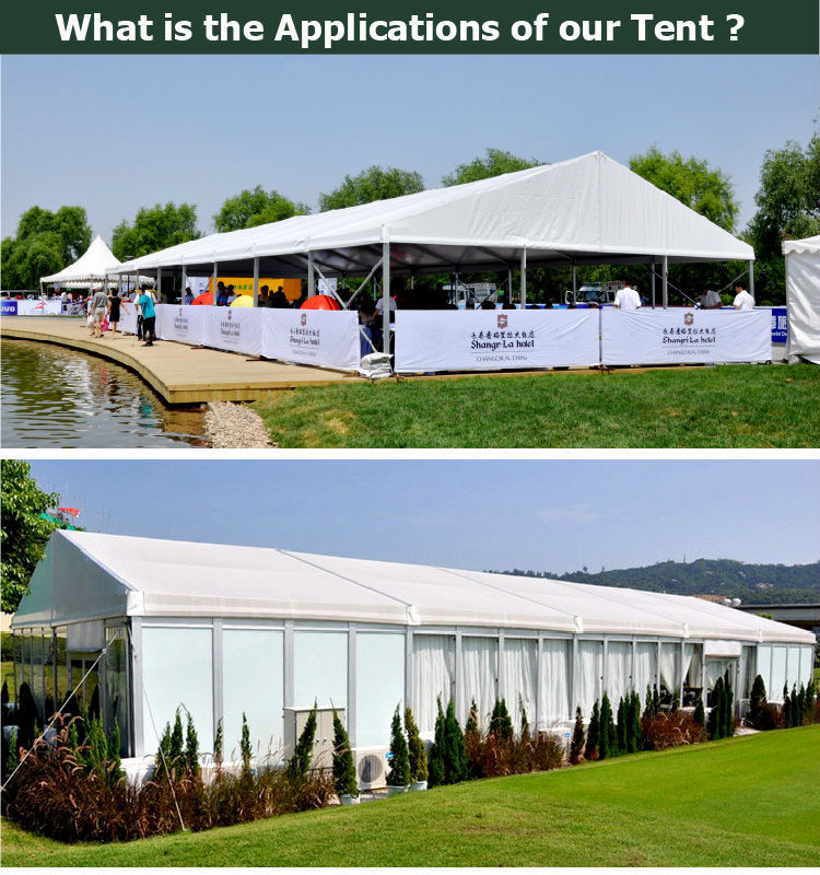 White Luxury Wedding Marquee Tent with Full Line Accessories