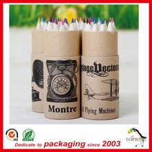 Wholesale eco friendly cheap pen box kraft pencil paper tube box