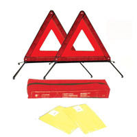 Safety Kits warning triangle with Safety Vest for Auto Use