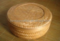 round natural lidded eco-friendly lined houseware bamboo storage crates wood fruit crates