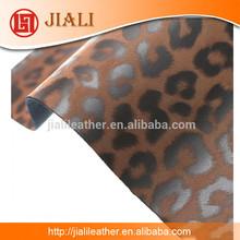 2015 hot sale Shoe lepard nubuck pu synthetic leather stocklot