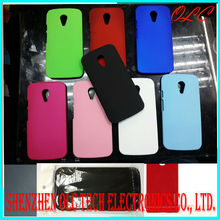 2014 New arrival Plastic Hard Rubber Case cover For For Moto G2 2nd Moto G+1 Dual SIM