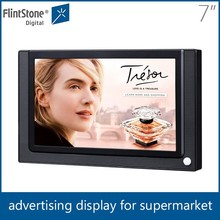 "Flintstone 7 inch lcd indoor advertising screen 7"" motion activated in-store video display sd card video player"