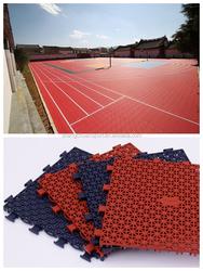 Portable plastic outdoor basketball court sports flooring