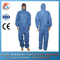 Medical Blue Disposable Nonwoven Protective Clothing