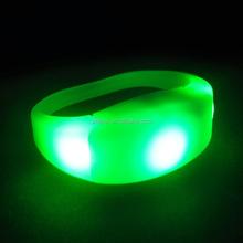 Promotional Gift Remote Controlled LED Flashing Customized Bracelet Sound Activation