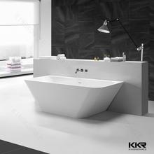 Caliente venta los diseños de baño personalizar superficie sólida bañera