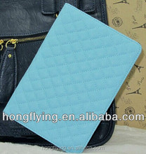 HOT classical lattice leather case for ipad mini with fine stitching