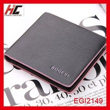 New wallet wholesale men's short casual color leather wallet with money clip can be customized