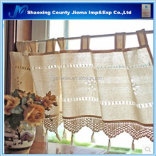 CUR EM008 2015 flower style white color embroidered window curtain