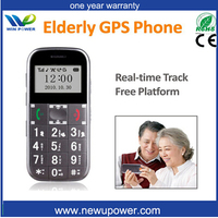 Hot sale gps tracker for old people emergency calls,tracking function sos button easy used mobile phone for senior people