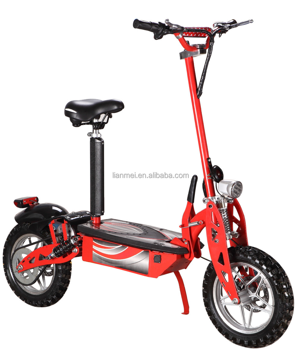 Chinese manufacturer 48v 1000w electric scooter for adults for Big wheel motor scooter