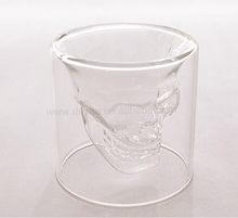 Skull head glass cup is awesome!!! Floral Candle, Sweet Glass Mug with Handle, 75ml Skull Head plastic mini beer mug shot glass